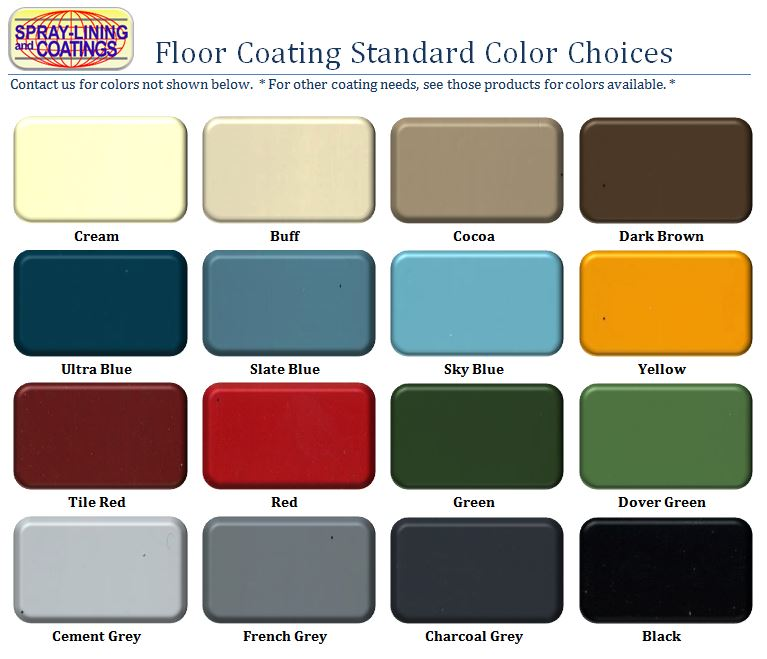 Image of Spray Lining floor colors
