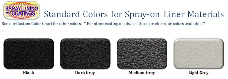 spray-lining standard color chart