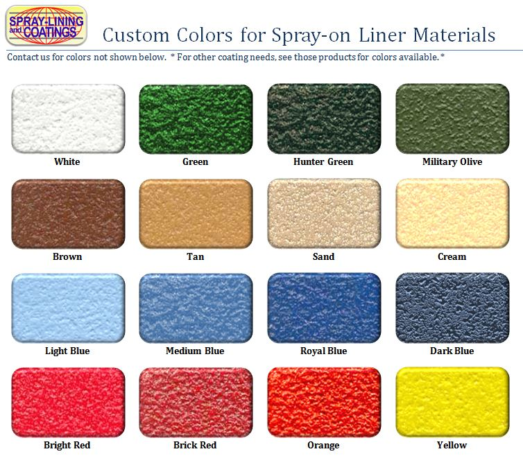 Rhino Liner Colors >> Colored Bedliner