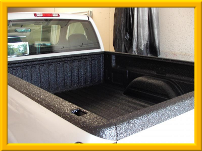 Truck Painted With White Bed Liner